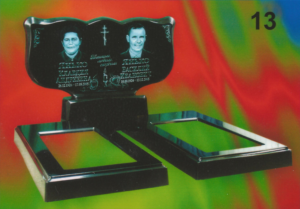 Памятник из литьевого мрамора двойной